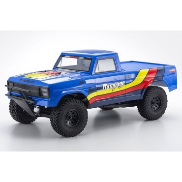 AUTOMODELO ELÉTRICO OUTLAW RAMPAGE TRUCK 1/10 RC EP RS 2WD AZUL RÁDIO KT231P KYOSHO KYO34361T2B KYO 34361T2B