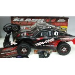 AUTOMODELO ELÉTRICO TRAXXAS SLASH ULTIMATE 4X4 4WD BRUSHLESS RÁDIO TQi 2.4Ghz COM TELEMETRIA SHORT COURSE MIKE JENKINS EDITION COM UPGRADE SEMINOVO