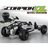 AUTOMODELO KYOSHO SCORPION XXL GP NITRO MOTOR 28 ESCALA 1/7 RÁDIO DIGITAL 2,4GHZ T1 BRANCO KYO 31873T1B