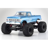AUTOMODELO ELÉTRICO MAD CRUSHER VE EP MT BRUSHLESS 1/8 4WD MONSTER TRUCK AZUL RÁDIO KT231P KYOSHO KYO34253B KYO 34253B