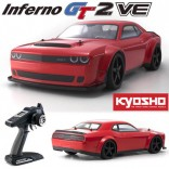 AUTOMODELO KYOSHO 1/8 INFERNO GT2 VE ELÉTRICO BRUSHLESS RACE SPEC DODGE CHALLENGER SRT DEMON 2018 4X4 RÁDIO DIGITAL 2.4GHZ KT331P MODELO NOVO KYO 34103B KYO34103B