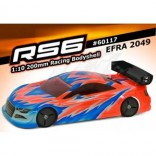 BOLHA BLITZ RS6 AUTOMODELO 1/10 200MM ON ROAD BLITZ RACING BODIES EFRA 2049 60117