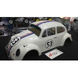 BOLHA FUSCA 67 ESCALA 1/10 200mm JÁ PINTADA HERBIE BOLHA POINT BP43 HER