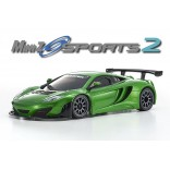 AUTOMODELO KYOSHO MINI-Z MR 03 SPORTS 2 MACLAREN 12C GT3 2013 SYNERGY GREEN VERDE LM ESCALA 1/27 RÁDIO 2.4GHZ KT19 KYO 32244MG-B