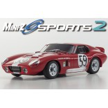 AUTOMODELO KYOSHO MINI-Z MR 03 SPORTS 2 SHELBY COBRA DAYTONA VERMELHO ESCALA 1/27 RÁDIO 2.4GHZ KT19 KYO 32232R-B