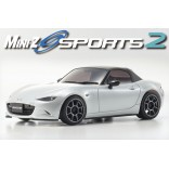 AUTOMODELO KYOSHO MINI-Z MR 03 SPORTS 2 MAZDA ROADSTER CERÂMICO METÁLICO ESCALA 1/27 RÁDIO 2.4GHZ KYO 32230PW-B