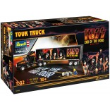 KIT PARA MONTAR REVELL 07644 TOUR TRUCK KISS END OF THE ROAD CAMINHAO 1/32 COM TINTAS COLA E PINCEL REV 07644