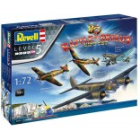 KIT PARA MONTAR REVELL GIFT SET BATTLE OF BRITAIN 80TH ANNIVERSARY COM 4 AVIÕES 1/72 222 PEÇAS COMPLETO COM TINTAS COLA E PINCEL REV 05691