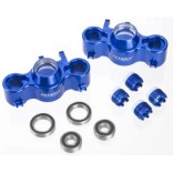EVOLUTION 3 STEERING BLOCK 2 4 CAPS FOR REVO 3.3 & SLAYER INTEGY T3252BLUE