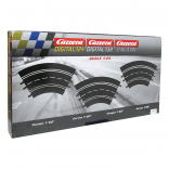 CONJUNTO COM 3 CURVAS  DE 60 GRAUS PARA AUTORAMA CARRERA DIGITAL 1/24 1/32 E EVOLUTION CAR20020571 20020571