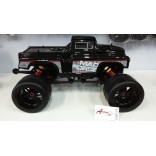PAR DE PNEUS SLICK COM RODAS PRETAS ON ROAD PARA MONSTER TRUGGYS KYOSHO MAD FORCE 1/8 SEXTAVADO DE 17mm MAD S138 P