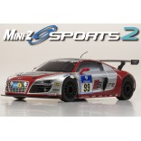 AUTOMODELO KYOSHO MINI-Z MR 03 SPORTS 2 AUDI R8 PHOENIX NBR 2010 ESCALA 1/27 RÁDIO 2.4GHZ KYO 32204GSL-B