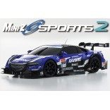 AUTOMODELO KYOSHO MINI-Z MR 03 SPORTS 2 RAYBRIG NSX CONCEPT GT 2014 ESCALA 1/27 RÁDIO 2.4GHZ KYO 32225GRG-B