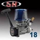 MOTOR SH 18 PARA 1/10 COMPLETO COM RECOIL E CARBURADOR SH18