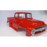 BOLHA PINTADA FORD F100 COR VERMELHA PARA AUTOMODELOS 1/10 E 1/8 MONSTERS TRUCKS.MAD FORCE,REVO,FW05/06