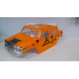 BOLHA HUMMER H2 1/8 PINTADA LARANJA PARA OFF ROAD MONSTERS REVO,STAMPEDE,SAVAGE,MAD FORCE LYNX.