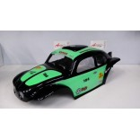 LHP0846PV BOLHA FUSCA BAJA 1/8 PINTADA PRETA E VERDE PARA OFF ROAD MONSTERS REVO,STAMPEDE,SAVAGE,MAD FORCE LYNX