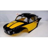 LHP0846PA BOLHA FUSCA BAJA 1/8 PINTADA PRETA E AMARELO PARA OFF ROAD MONSTERS REVO,STAMPEDE,SAVAGE,MAD FORCE LYNX