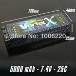 BATERIA DE LIPO VORTEX NANO TECH 2S 7.4V 5000Mah 25/50C HARD CASE VORTEX2S