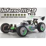 AUTOMODELO KYOSHO INFERNO MP9 TKI3 NITRO RTR READYSET 1/8 4X4 COM NOVO RÁDIO KT331P KYO31889T1B KYO 31889T1B