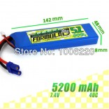 BATERIA DE LIPO FORMULAD NANO TECH 2S 7.4V 5200MAH 40/80C FOR CAR RC02109