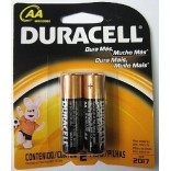 PILHAS ALCALINAS DURACELL AA 1,5V EMBALAGEM CONTENDO 02 UNIDADES DURACELL